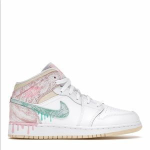 "🍦*NEW* Air Jordan 1 Mid ""Paint Drip"" (GS)"
